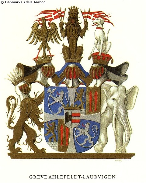 coat of arms - Ahlefeldt-Laurvigen