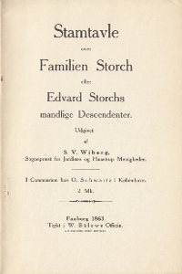 Stamtavle over Familien Storch